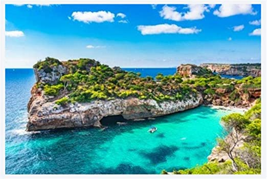Rompecabezas Rompecabezas Adulto 1000 Piezas España Mar Mediterráneo Mallorca Playa De Cala Moro Puzzle De 1000 Piezas: Amazon.es: Hogar