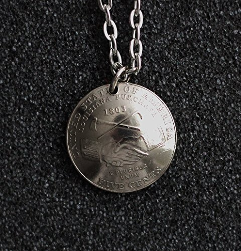 American Nickel Domed Coin Necklace 2004 U.S. Commemorative Indian Peace Medal