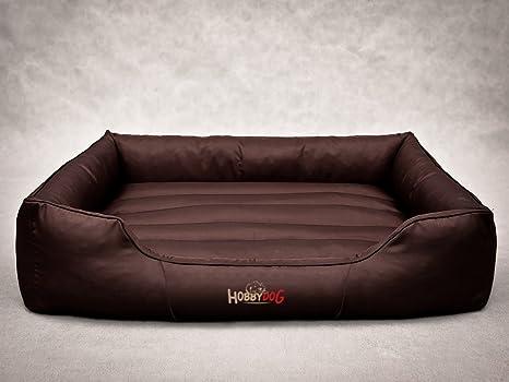 Hobbydog - Cama para Perro, Marrón Oscuro, L (65x50x20 cm)