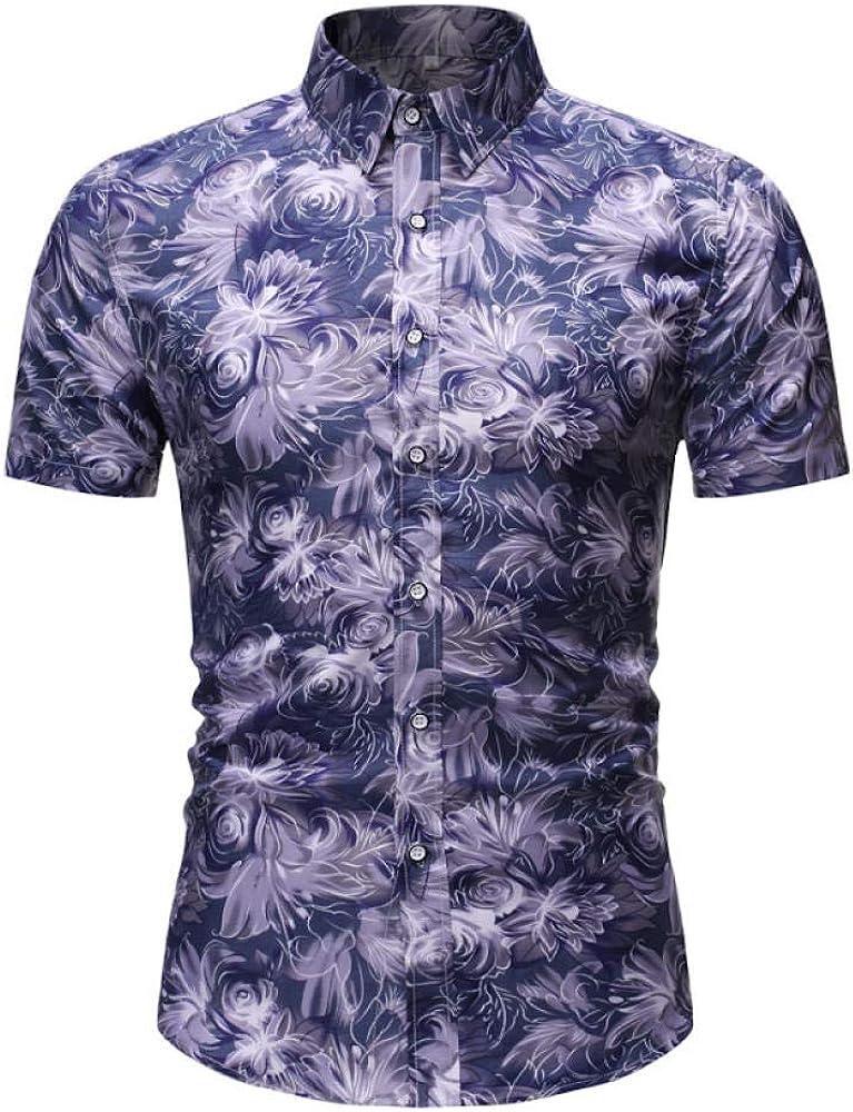 Camisa De Manga Corta Hawaii Summer Men Men Simple Joker Top A10 @ M: Amazon.es: Ropa y accesorios