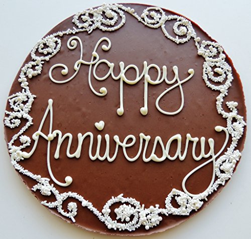 Hand Decorated Sugar Cookies - Chocolate Pizza®, Happy Anniversary, 14 Ounces, 10 Inch, Hand-Decorated, Made in USA