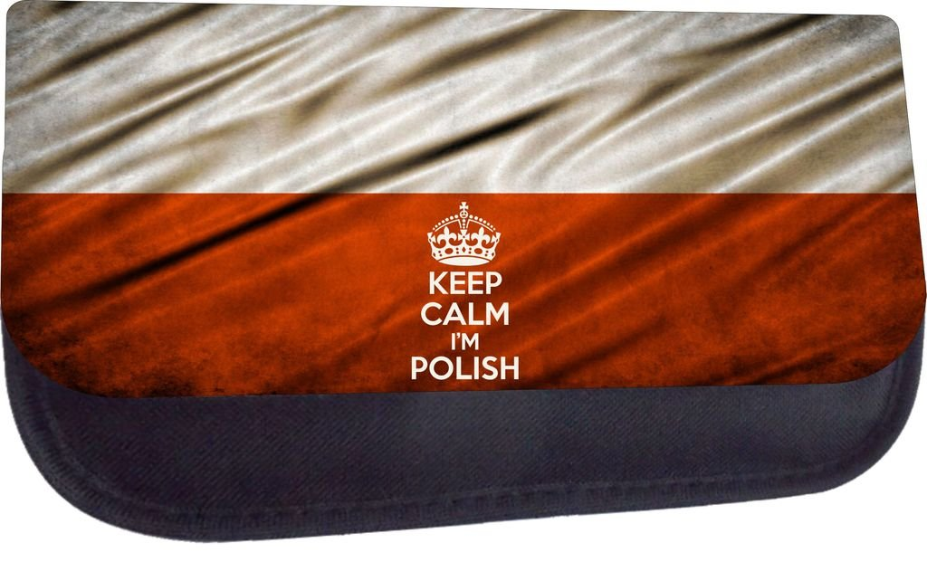 School Messenger Bag and Pencil Case Set Keep Calm Im Polish-Poland Flag Print Design Jacks Outlet Inc