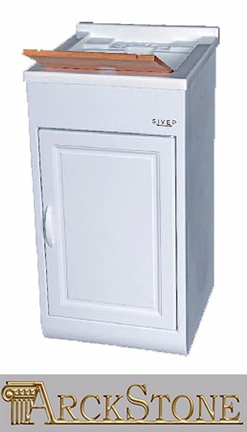 Mobili Per Lavanderia Di Casa.Sivep Mobile Lavatoio M2 45x50x84 Lavapanni Lavanderia