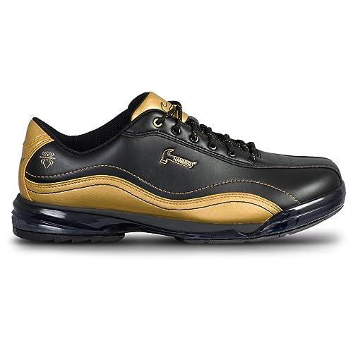 f0da5acb7b3e7d Hammer Bowling Products Mens Black Widow Gold Performance Bowling Shoes-  Right Hand Black Gold