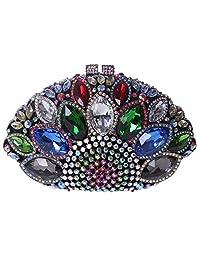 Fawziya Big Diamond Studded Sea Shell Shape Ladies Party Clutch Handbag