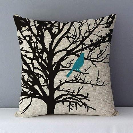 LPNJ Cojín Impreso de Plantas de Colores de árboles de Vida ...