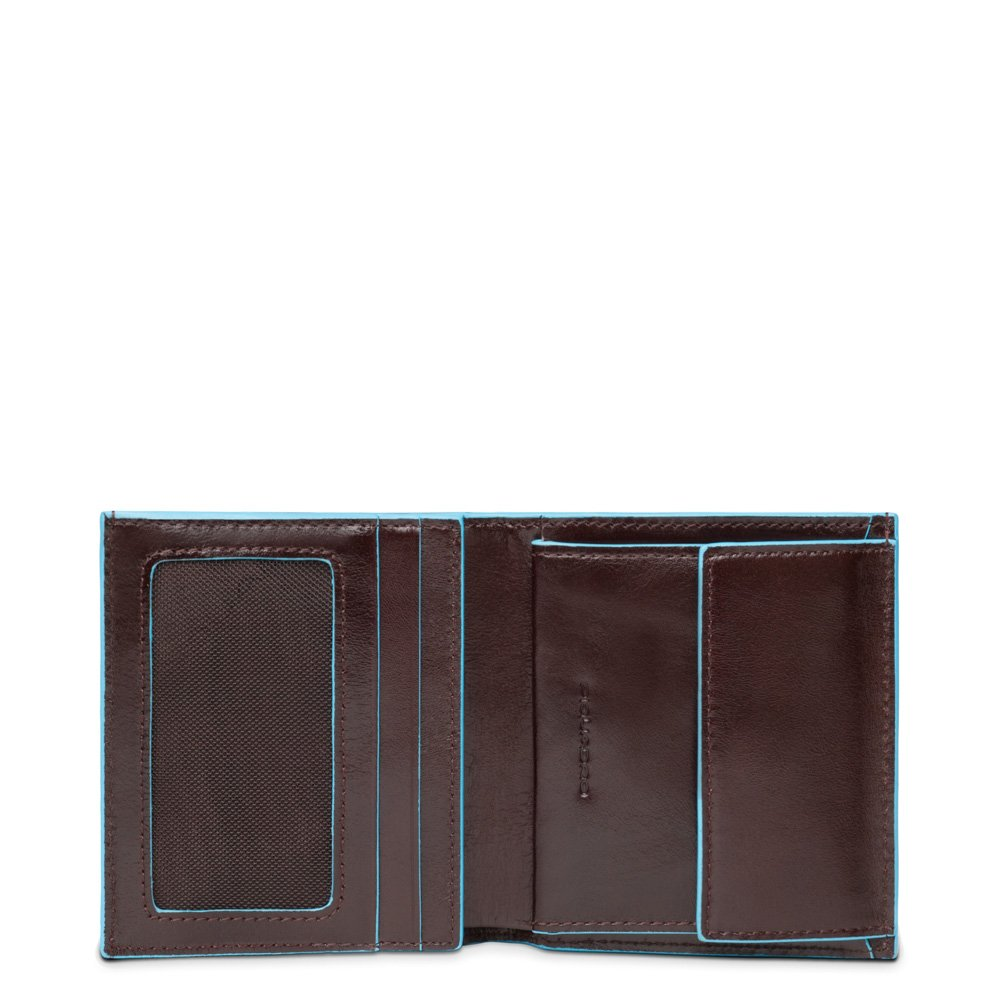 Piquadro Pocket Men's Wallet with Coin Case Credit Card Facility, Mahogany, One Size