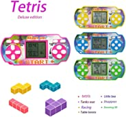 wumedy Mini Handheld Game for Tetris Racing Car Puzzle Game Kids Toy Handheld Games