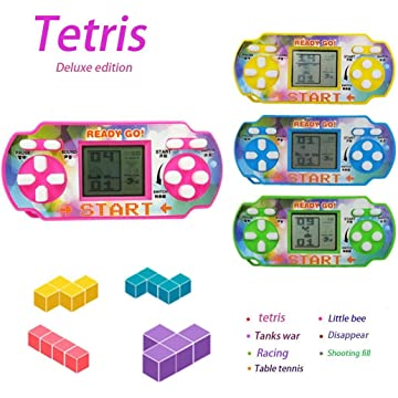 Nessere Mini Handheld Game for Tetris Racing Car Puzzle Game Kids Toy Handheld Games