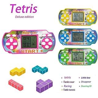 Diaped Gioco Palmare Tetris Console Gioco Portatile, Mini Console di Gioco Elettronica, Buon Regalo per Bambini Tetris Macchina da Corsa Gioco di Puzzle Giocattolo per Bambini 9 x 4 x 4 cm