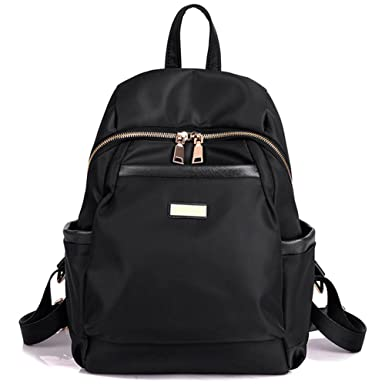 Amazon.com | Luckysmile Women Girls Casual Nylon Backpack Purse ...
