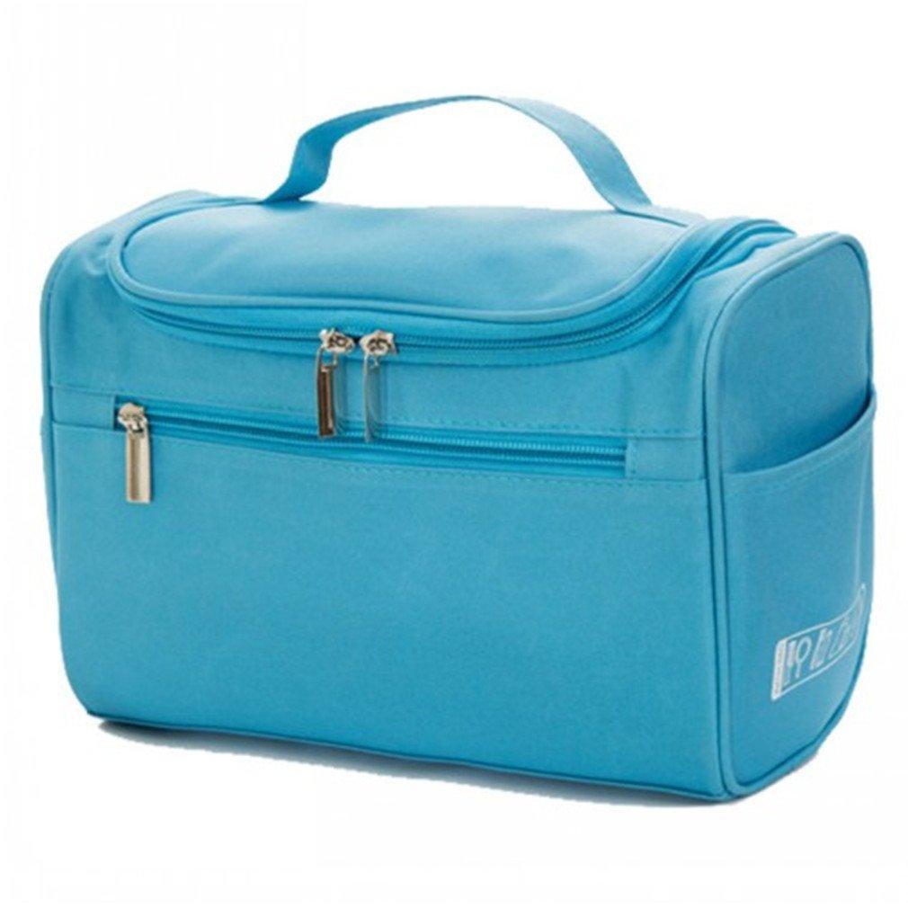 Women's Men's Large Waterproof Cosmetic Bag Travel Cosmetic Bags sky blue