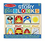 Melissa & Doug Wooden Story Blocks Educational Toy - Roll the Blocks and Tell a Story