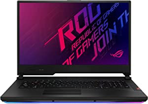 "ASUS ROG Strix Scar 17 Gaming Laptop, 17.3"" 300Hz FHD IPS Type Display, NVIDIA GeForce RTX 2070 Super, Intel Core i9-10980HK, 32GB DDR4, 1TB PCIe SSD, Per-Key RGB Keyboard, Win10 Pro, G732LWS-XS98"