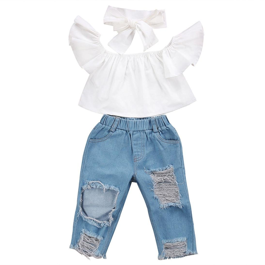 Mother & Kids Baby Girl Jeans Pants Denim Trousers High Waist Newborn Clothes Toddler Kids Spring Autumn Cotton Casual Wear 6 9 12 18 24 Month Carefully Selected Materials