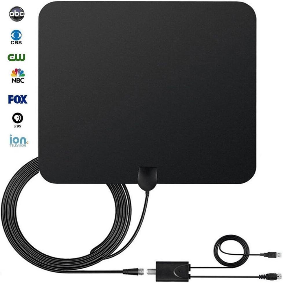 HDTV Antena, StarTV TV antena para TV Digital Indoor 50 millas de alcance con amplificador de señal Booster para recepción de 1080p de alta extraíble, ...