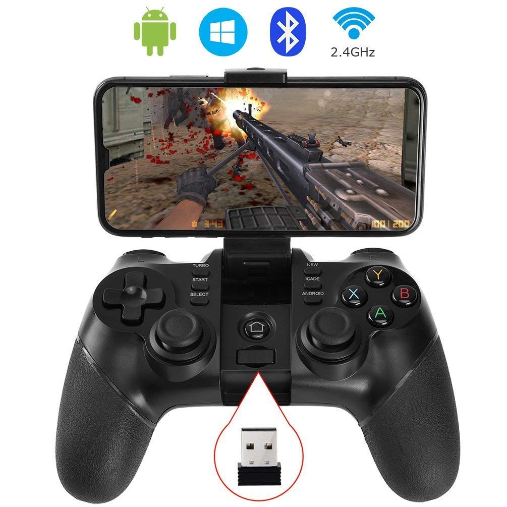 Amazon.com: ALLCACA Wireless Game Controller 2.4G PS3 Rechargeable Bluetooth Gamepad for Android Smartphone, Playstation 3, PC Windows XP/7/8/10, Tablets, ...