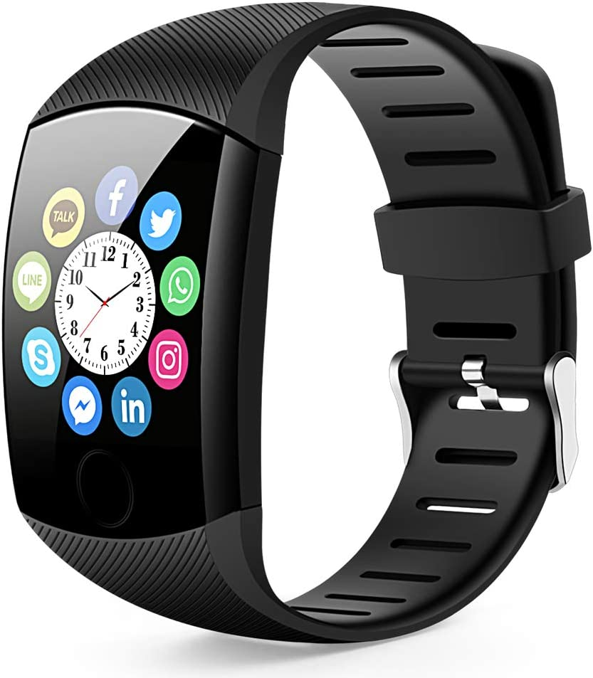 Bluetooth Smart Watch, Touch Bluetooth Smart Watch Fitness Activity Tracker,Step Counting Heart Rate Monitoring Waterproof etc Compatible with iPhone iOS Samsung lg Android System for Men Women
