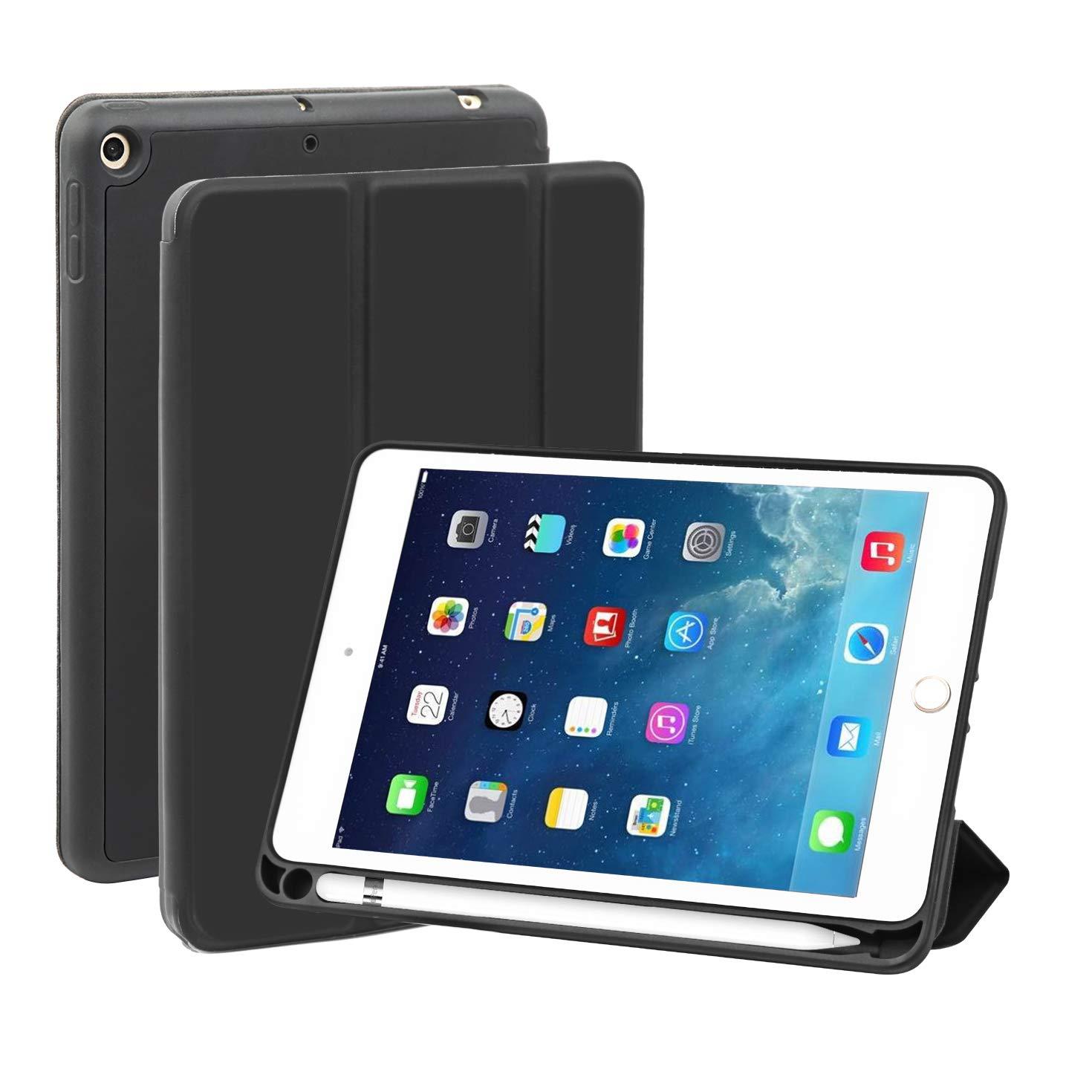 日本初の BUHORE スリムケース iPad iPad Mini 第5世代用 スリムケース (2019年発売) ソフトTPUバックカバー ペンシルホルダー付き (2019年発売) 三つ折り磁気スマートカバー/スタンド ブラック B07QF5RPPK, 暮らしの百貨店:2632fadb --- a0267596.xsph.ru