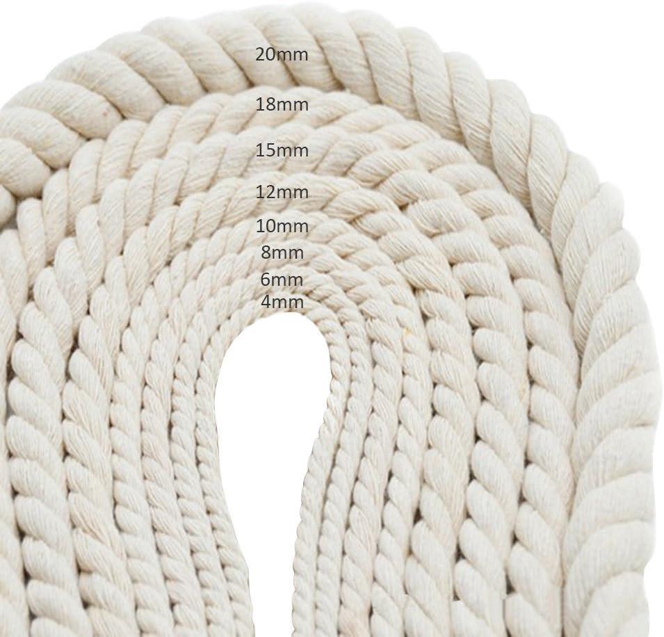 Cuerda de algodón natural trenzada para DIY, colgador de macetas ...