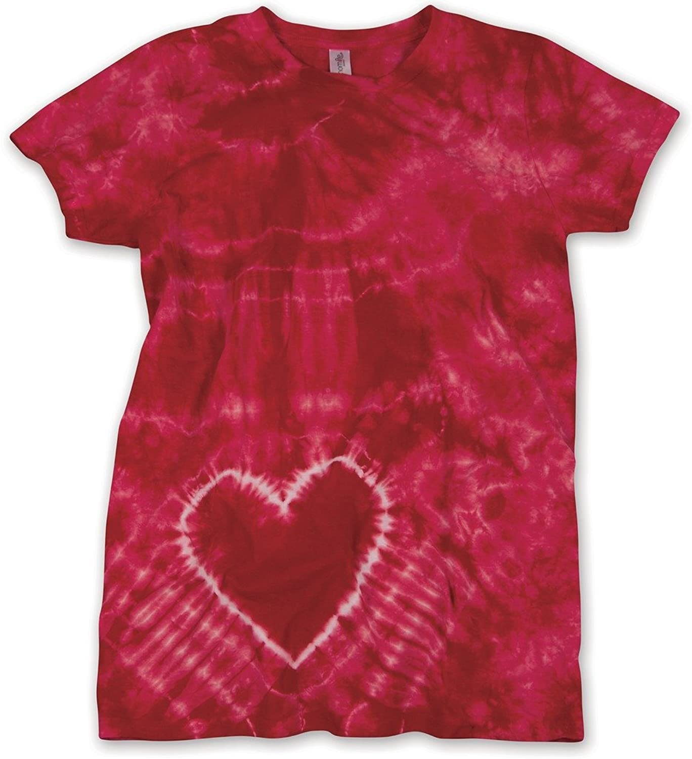 Yoga Clothing For You Ladies Heart Tie Dye Tee Shirt