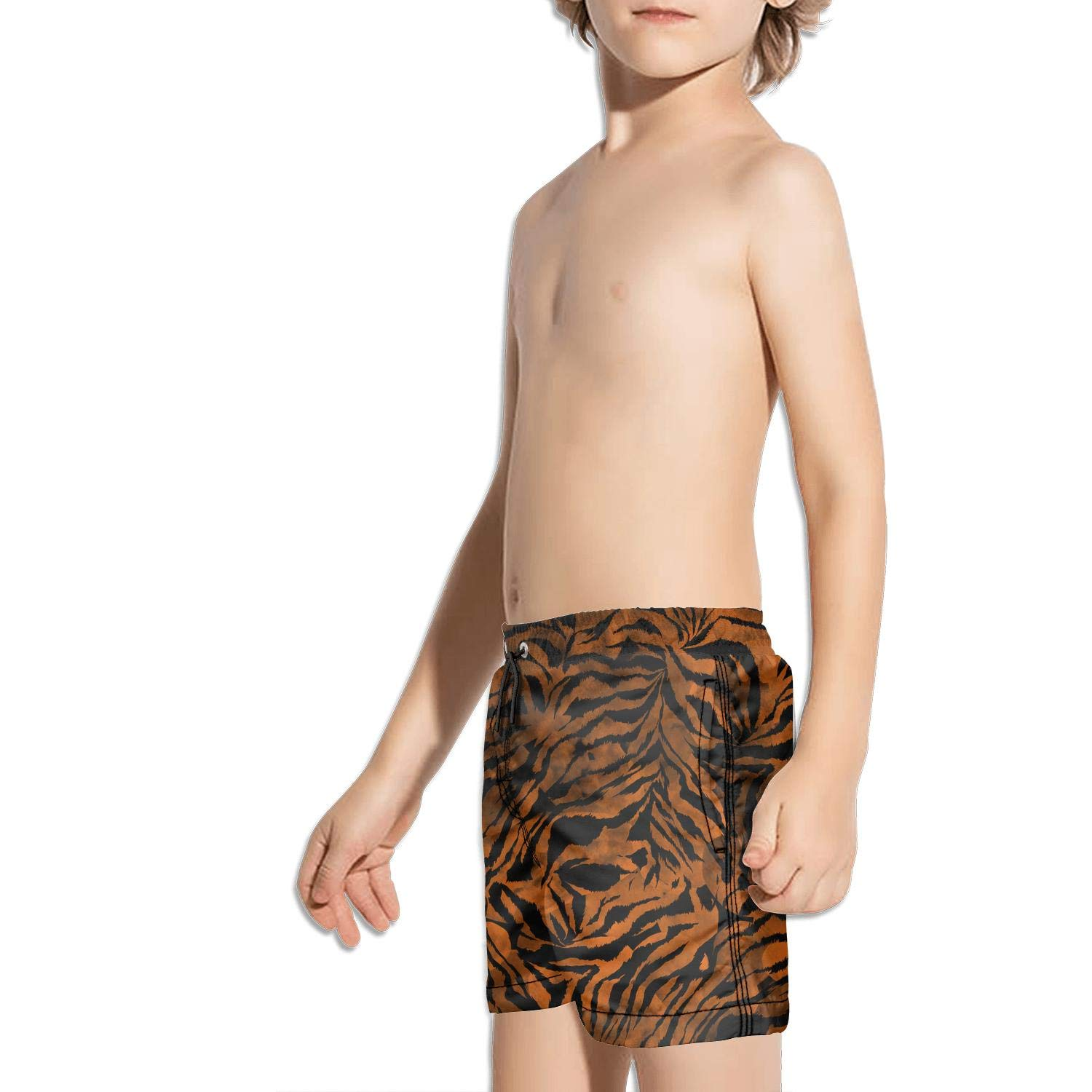 FullBo Animal Design Leopard Watercolor Camouflage Little Boys Short Swim Trunks Quick Dry Beach Shorts