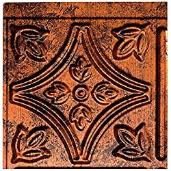 "Fasade Easy Installation Traditional 1 Moonstone Copper Backsplash Panel for Kitchen and Bathrooms (6"" x 6"" Sample)"