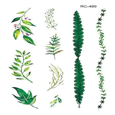 ljmljm 5pcs Impermeable Etiqueta engomada del Tatuaje del árbol de ...