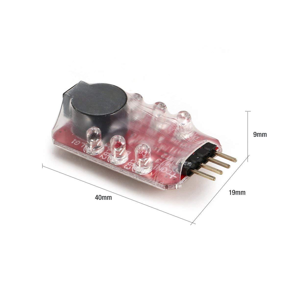 3s 11.1v Batterie lipo Heaviesk Basse Lipo Batterie LED Tension Compteur Testeur Buzzer Indicateur Dalarme Simple Haut Parleur pour 2s 7.4v