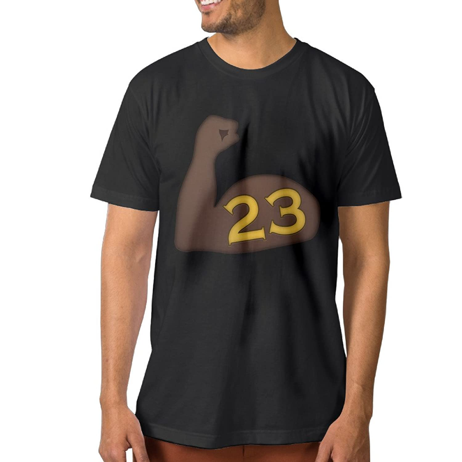 ElishaJ Men's Golden State #23 Green Player Cotton Tshirt Black