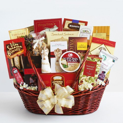 Peace, Prayer & Blessings Sympathy Deluxe Gift Basket