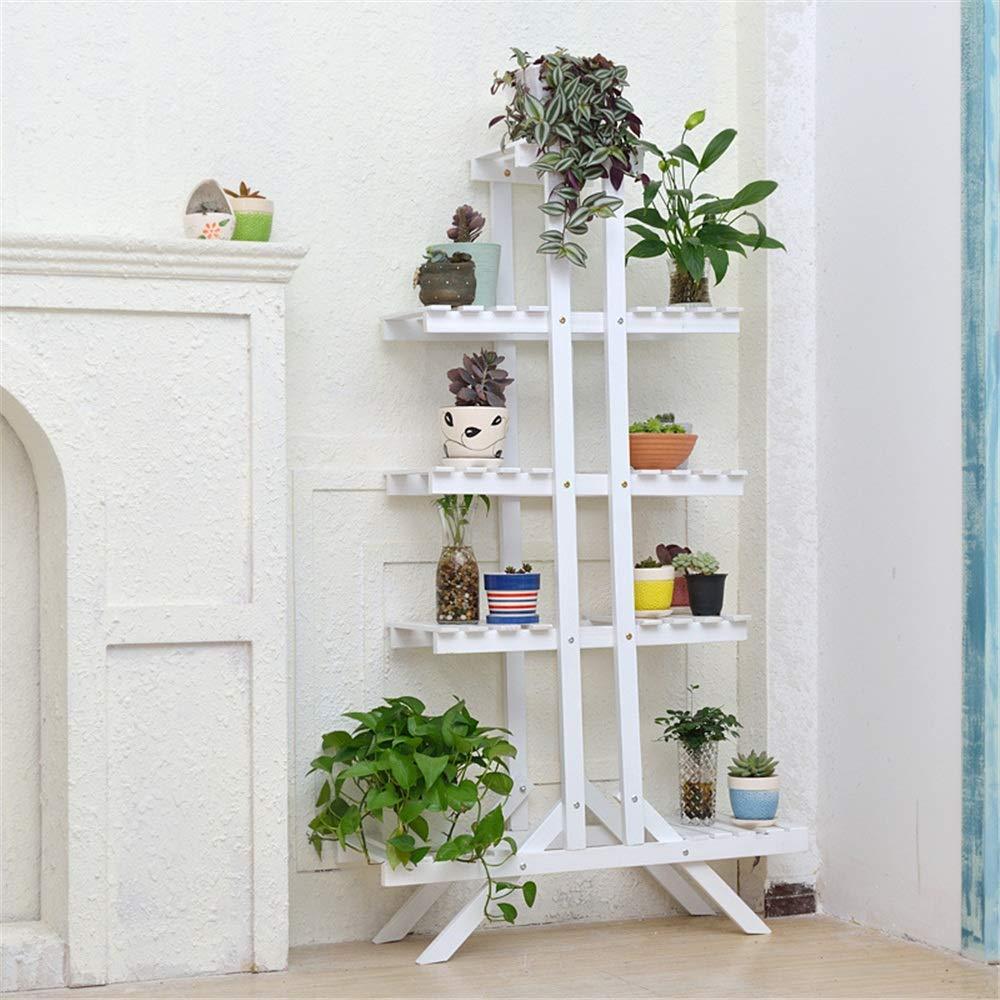Espositore per piantane Espositore per Fiori in Legno Espositore per vasi per Piante a più Livelli Espositore per vasi da Fiori per Giardino Interno Indoor Rack