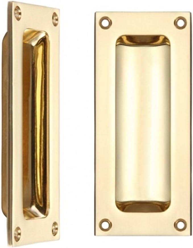 Carlisle Latón aq90 rectangular empotrada Flush Puerta Tirador 102 ...