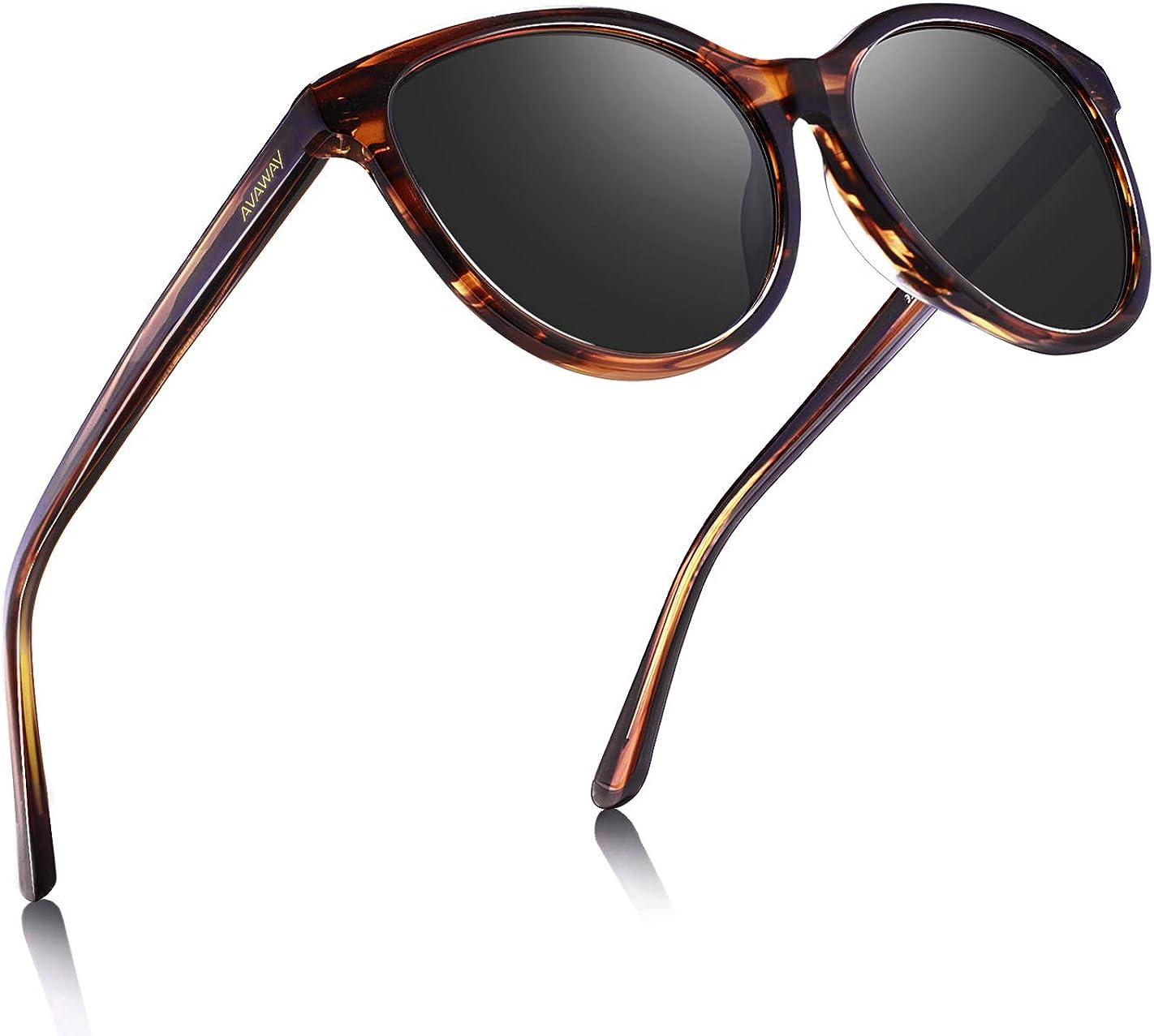 AVAWAY UV400 Mujer Gafas De Sol Polarizadas Protección Acetato Marco