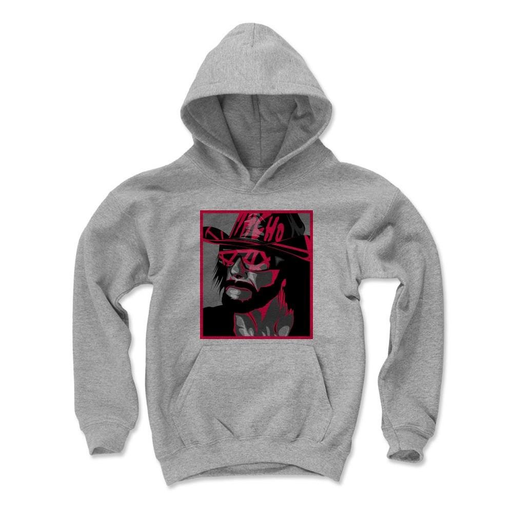 500 Level's Macho Man Randy Savage Kids Youth Hoodie XL Gray - Randy Savage Macho Madness K - Officially Licensed by Pro Wrestling Tees