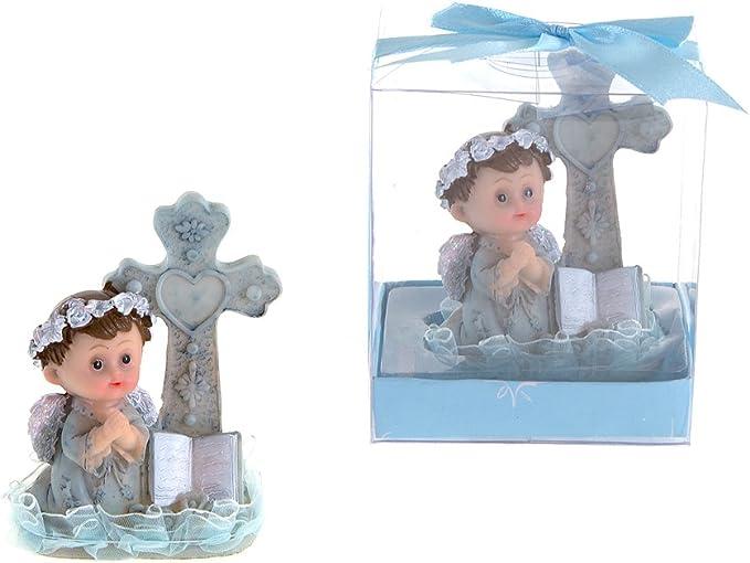 12 PC BAPTISM BLUE ANGEL KEY CHAINS BAUTIZO RECUERDOS KNEELING CHRISTENING FAVOR