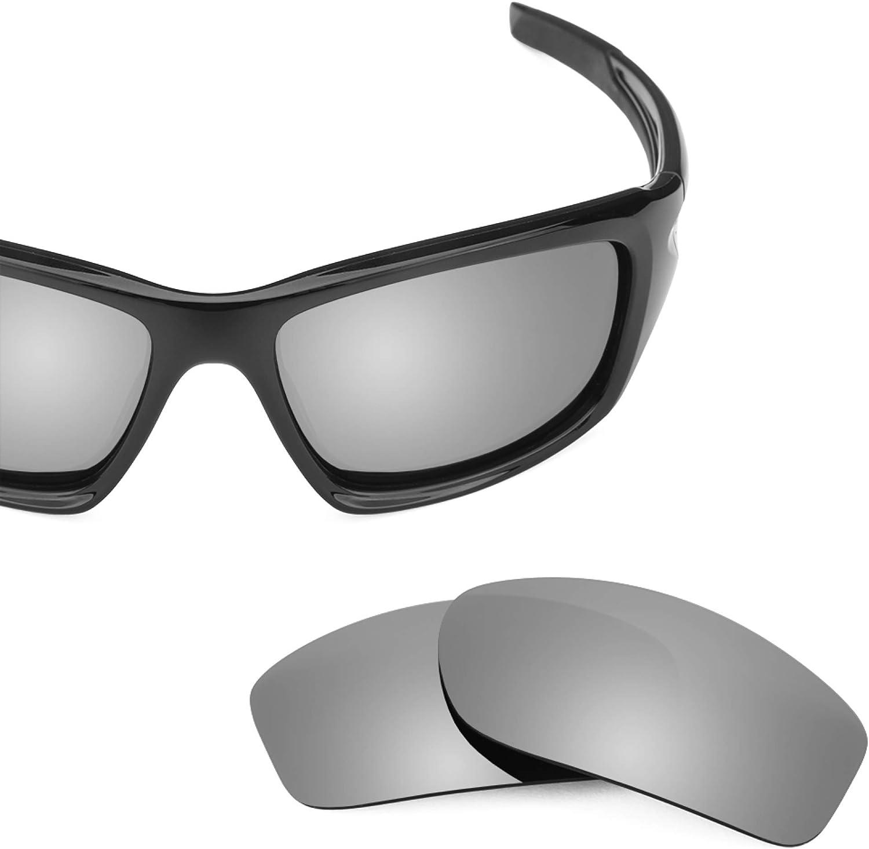 Revant Verres de Rechange pour Oakley Valve - Compatibles avec les Lunettes de Soleil Oakley Valve Titane Mirrorshield - Non Polarisés