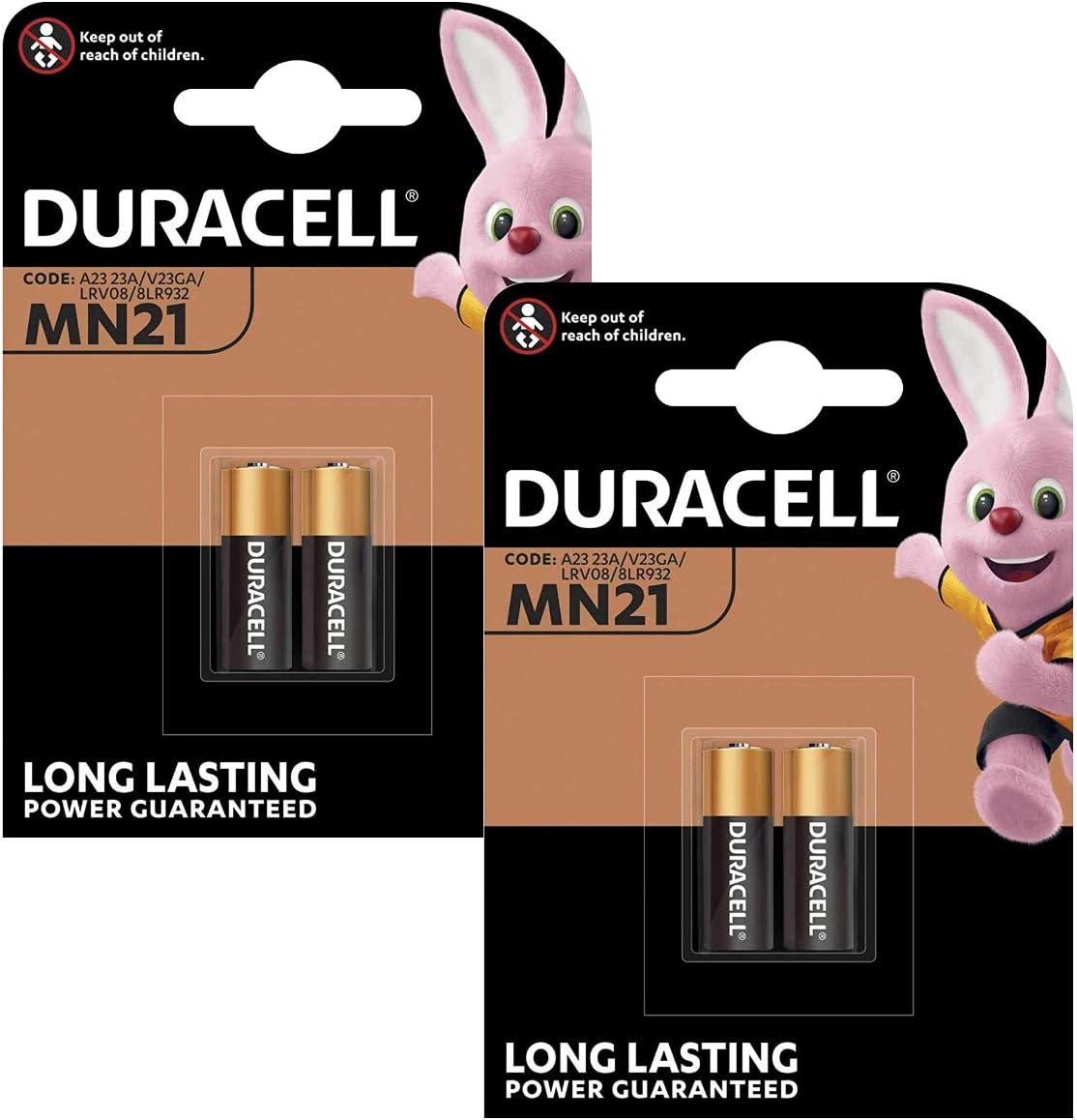 4x Pila Duracell Alcalina Security A23 / K23A LRV08 de 12V 2017 LRV08 GP23 MN21 V23GA LR23A 23A L1028 Bateria 2665c