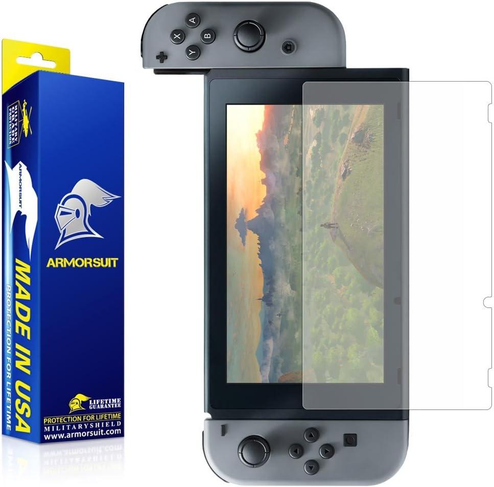 ArmorSuit MilitaryShield Anti-Glare Screen Protector for Nintendo Switch - [Max Coverage] Anti-Bubble Matte Film