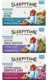 Celestial Seasonings Wellness Caffeine Free Herbal Tea 3 Flavor Variety Bundle, 1 Each: Sleepytime Extra Tea, Sleepytime Echinacea Complete Care Tea, Sleepytime Sinus Soother Tea (20 Count Ea.)