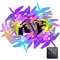 Vmanoo Christmas Solar Lights 15 5ft 20 Led 8 Modes Multi Color Dragonfly Fairy String Light For Home Garden Outdoor Party Patio Xmas Landscape Decoration Valentines Gift