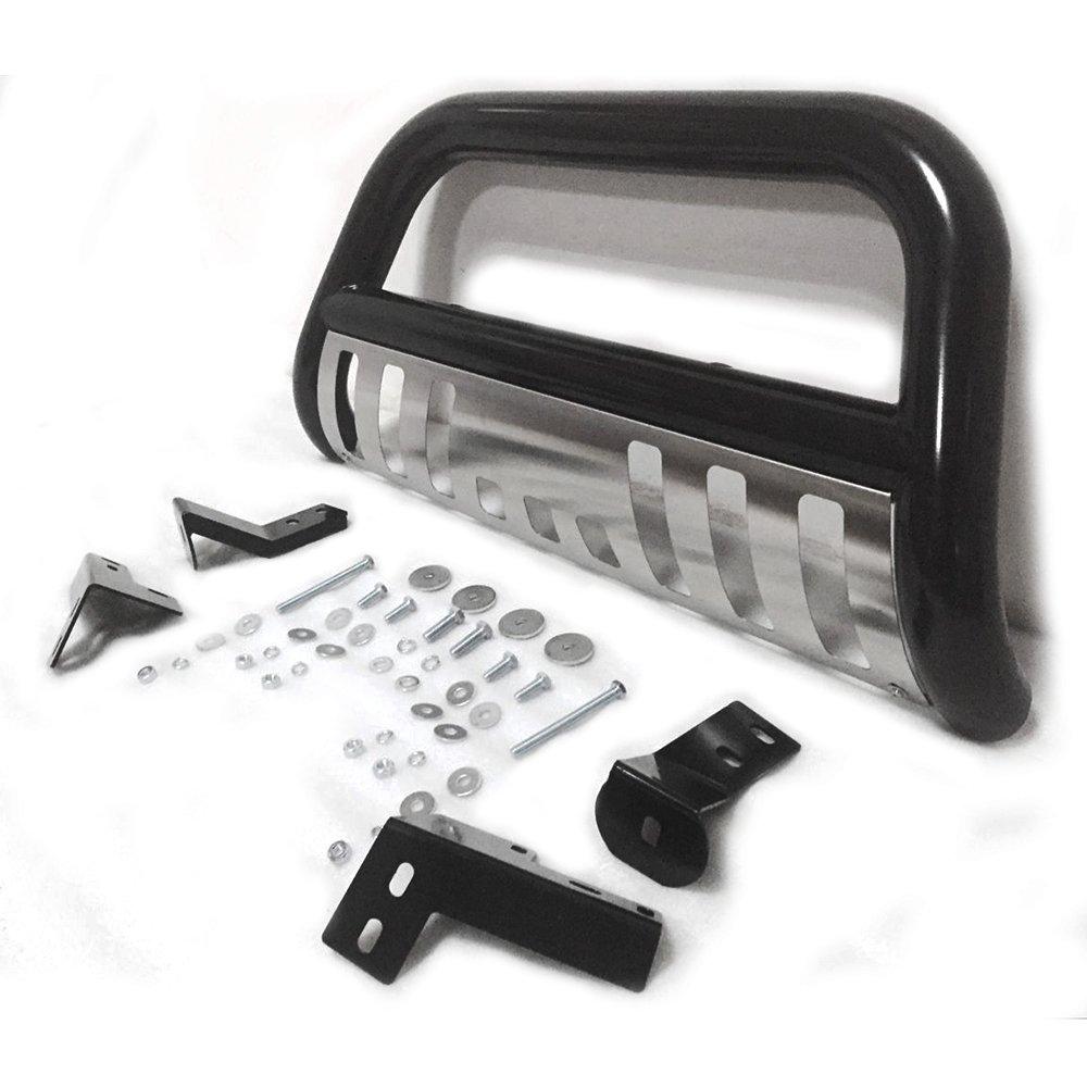 3 Black Stainless Steel Bumper Brush Grille Guard Bull Bar For 05-15 Toyota Tacoma Pickup