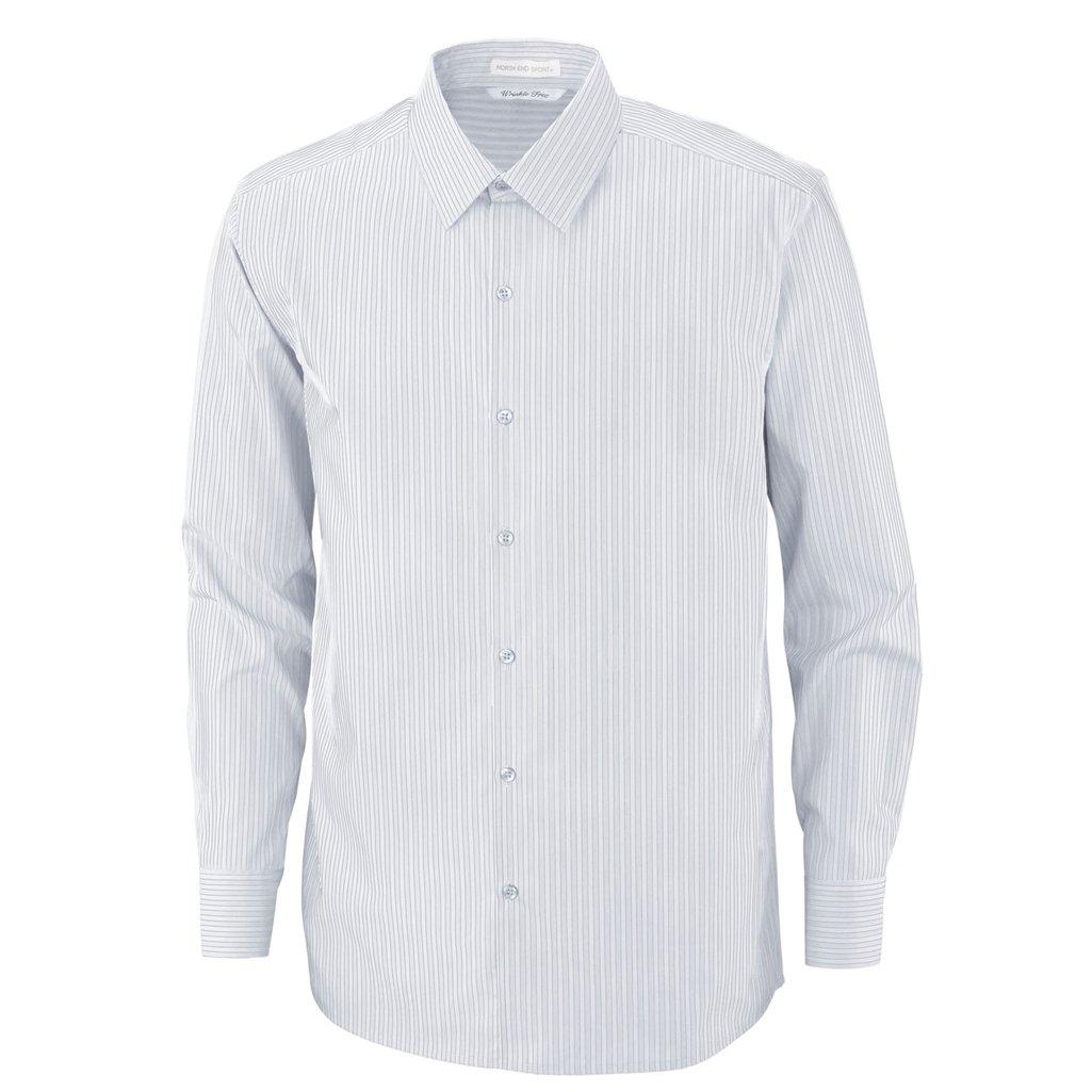 Ash City Mens Boardwalk Performance Shirt (Small, White/Carbon)