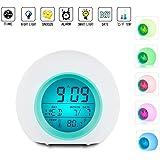 Vekey Alarm Clock for Kids Wake up Light Premium Digital Display Model, White