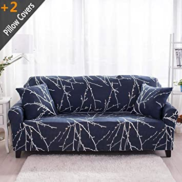 Awesome Iisutas Stretch Couch Covers Loveseat Slipcovers Fitted Cover Seat Furniture Protector With Two Pillow Case 54 70 Loveseat Tree Branch Andrewgaddart Wooden Chair Designs For Living Room Andrewgaddartcom