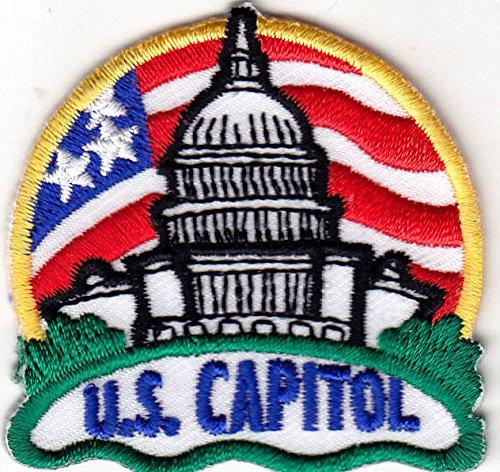 """U. S. CAPITOL"" - WASHINGTON D.C. - UNITED STATES - IRON ON EMBROIDERED PATCH"