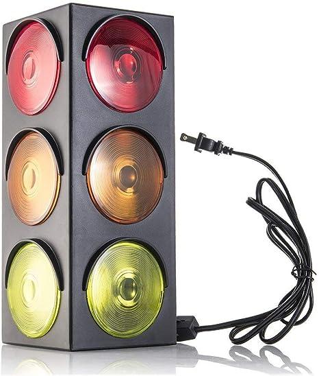 Amazon.com: Kicko Traffic Light Lamp With Base - Mini Stop Light Lamp, Blinking - Decoration For Kids