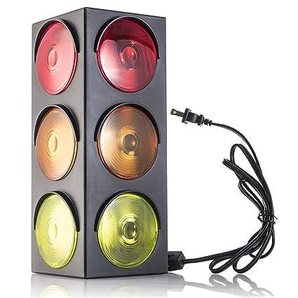 Buy Kidsco Blinking Triple Sided Plug In Traffic Stop Light Lamp