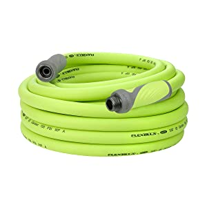 Flexzilla Garden Hose with SwivelGrip, 5/8 in. x 50 ft., Heavy Duty, Lightweight, Drinking Water Safe - HFZG550YWS (Packaging May Vary)