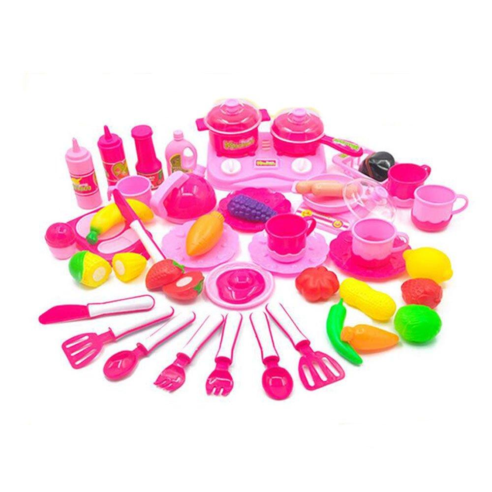 Küchenspielzeug Schneiden Kinderküche Pädagogisches Lernen Obst Spielzeug Kunststoff Gemüse Lebensmittel Rollenspieleeichhorn Weihnachtsgeschenk CFZHANG